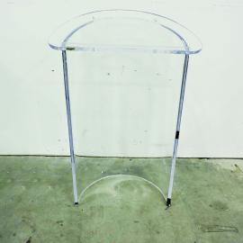 PRG LECTERN ACRYLIC CLEAR CURVED LECTERN